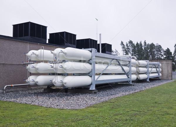 Erdgas Industrie Komplex Gesundheit Halle Container Stock foto © gemenacom