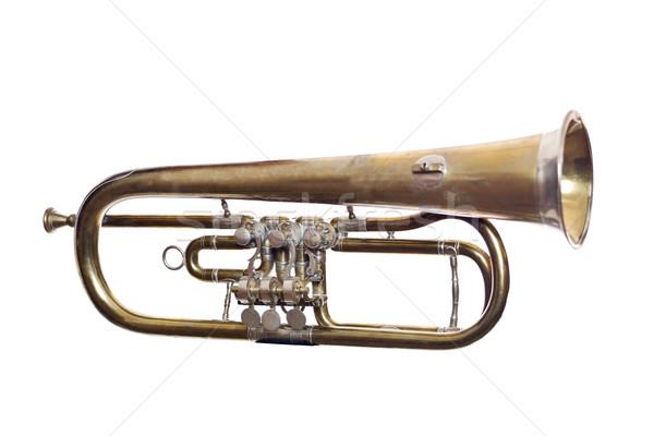 Worn wind instrument Stock photo © gemenacom