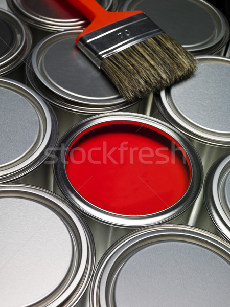 Paint cans full frame Stock photo © gemenacom