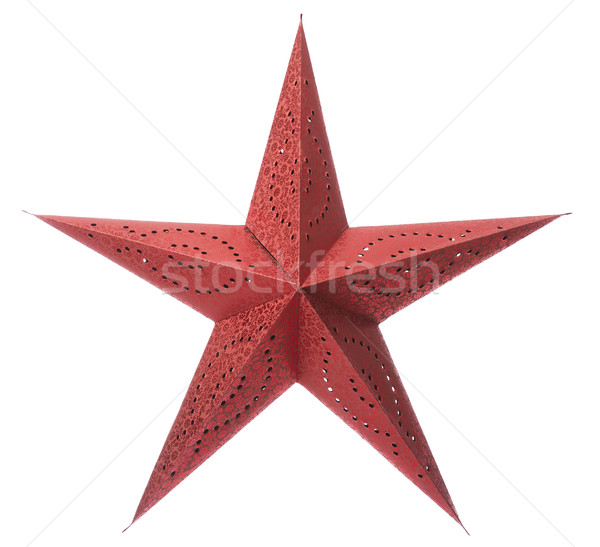 Red christmas star Stock photo © gemenacom