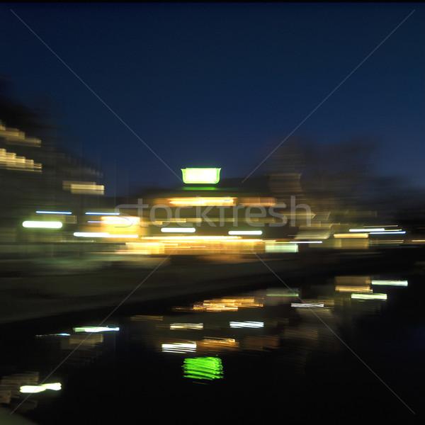 şehir hareket şehir ışıkları gece araba soyut Stok fotoğraf © gemenacom