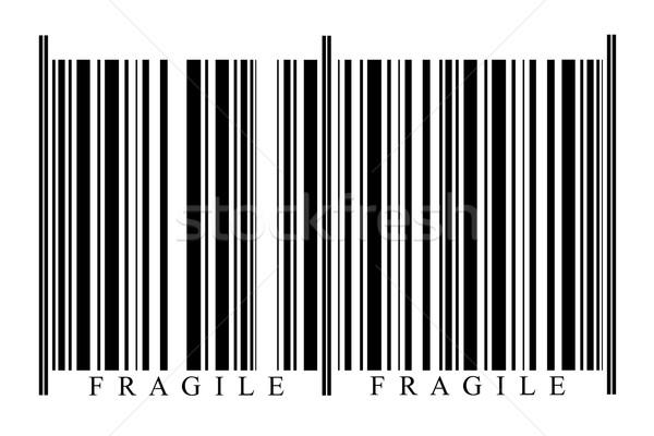 Kruchy kodów kreskowych biały technologii czarny rynku Zdjęcia stock © gemenacom