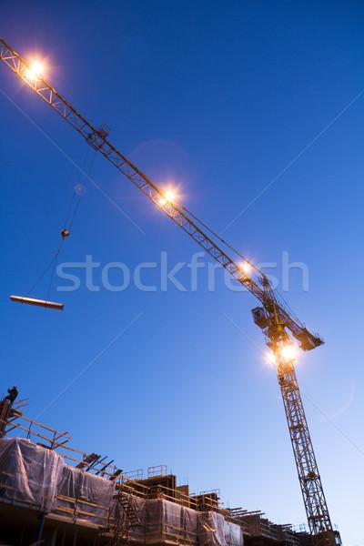 Noite ver construção luz Foto stock © gemenacom