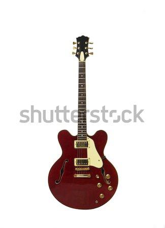 エレキギター 赤 ヴィンテージ 白 再生 白地 ストックフォト © gemenacom