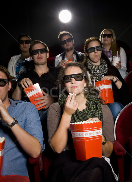 Zdjęcia stock: Jedzenie · popcorn · kina · film · teatr · film