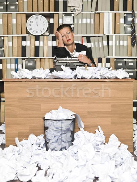 Stock fotó: Fáradt · író · tél · görcs · iroda · papír