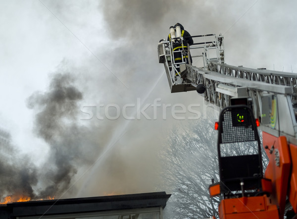 Fireman working Stock photo © gemenacom