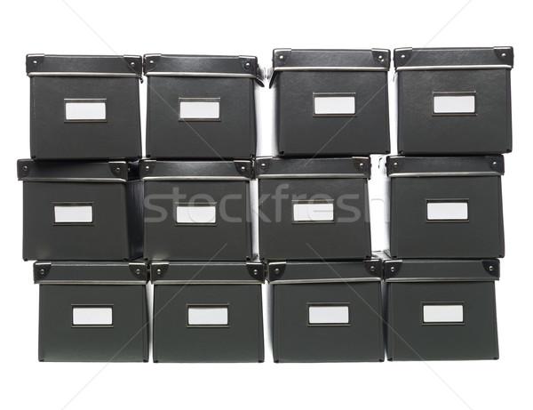 Opslag dozen store studio witte achtergrond collectie Stockfoto © gemenacom