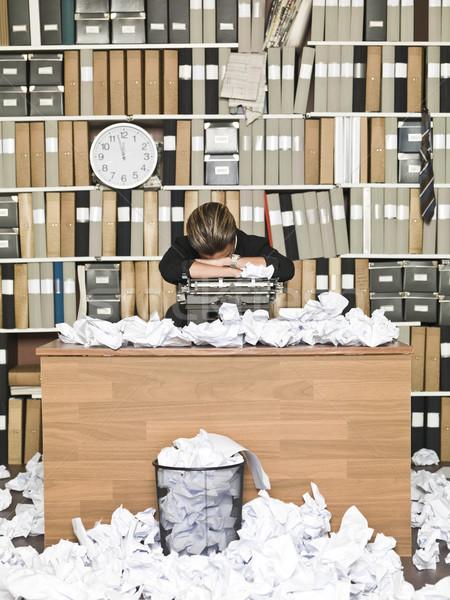 疲れ ライター けいれん オフィス 紙 ストックフォト © gemenacom