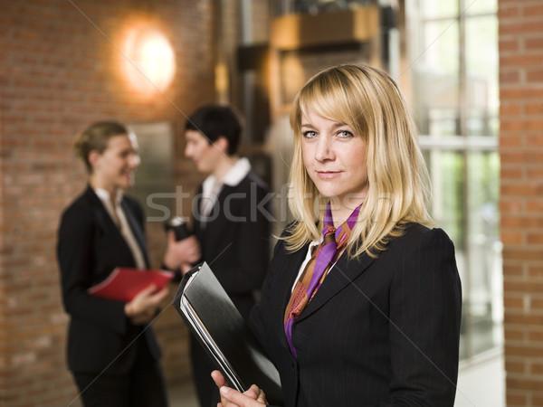 Businesswoman in front of two women Stock photo © gemenacom