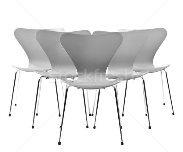 öt székek képződmény izolált fehér Stock fotó © gemenacom