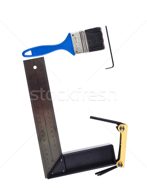 Letter 'G' made of tools Stock photo © gemenacom