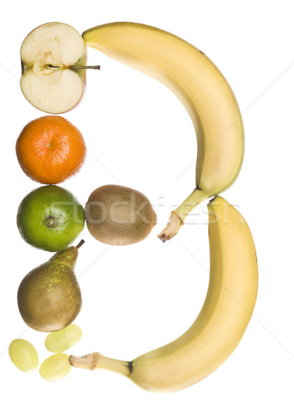 The letter 'B' made out of fruit Stock photo © gemenacom