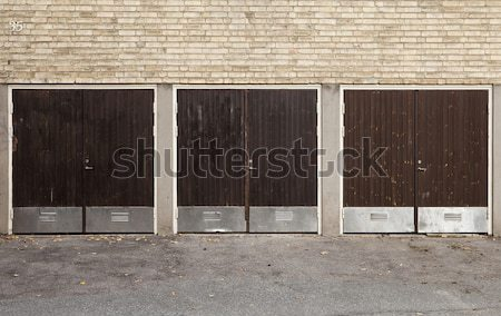 Worn Garage Doors Stock photo © gemenacom