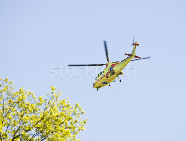 Medical transportation with a helicopter Stock photo © gemenacom