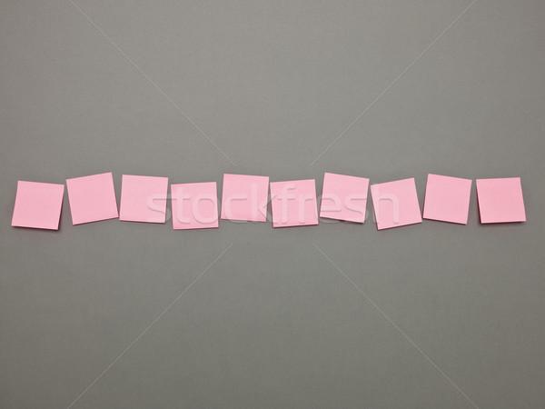 Photo stock: Rose · adhésif · note · rangée · communication · Billboard