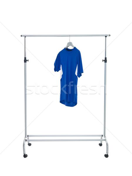 Blue shirt on Dress Rack Stock photo © gemenacom