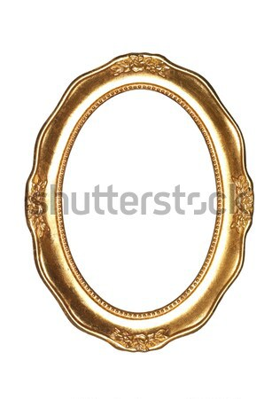 овальный кадр золото белый фотография орнамент Сток-фото © gemenacom