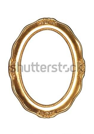 Oval goldframe Stock photo © gemenacom
