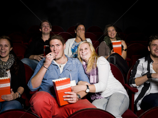 Bioscoop film theater eten popcorn Stockfoto © gemenacom