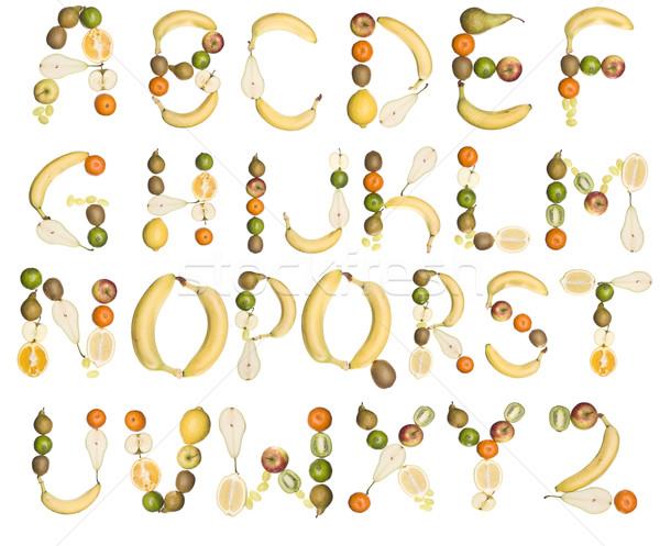 The Alphabet formed by fruits Stock photo © gemenacom