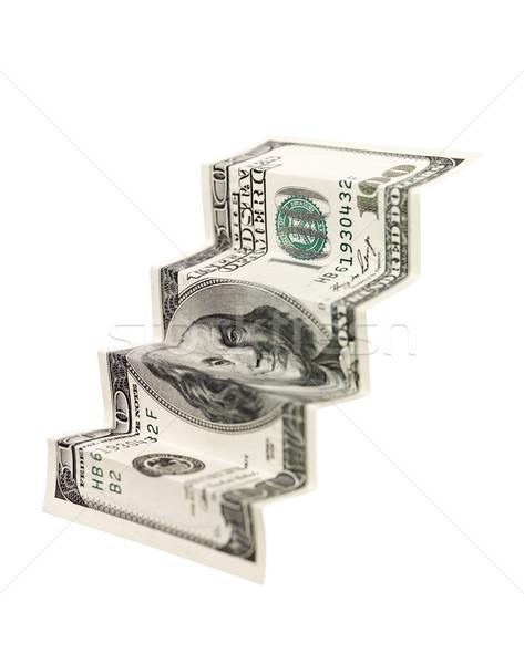 Sto Dolar schody odizolowany biały działalności Zdjęcia stock © gemenacom