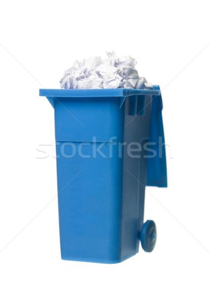 Recycling bin with paper Stock photo © gemenacom