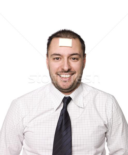 Hombre nota frente negocios empresario hombres Foto stock © gemenacom