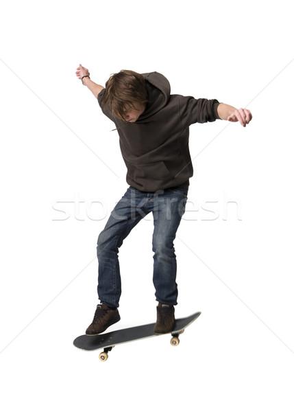 Man jumps with a skateboard Stock photo © gemenacom