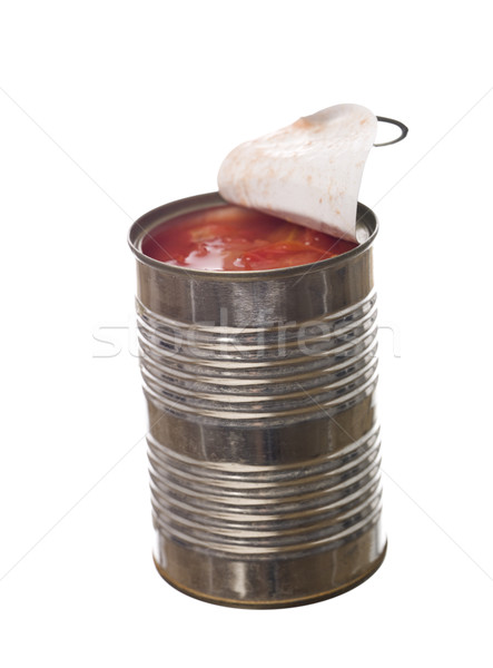 Tin Can with tomatoes Stock photo © gemenacom
