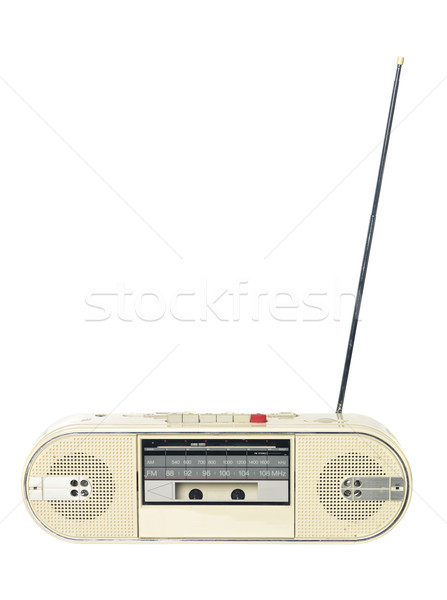 1980 radio isolato bianco speaker suono Foto d'archivio © gemenacom