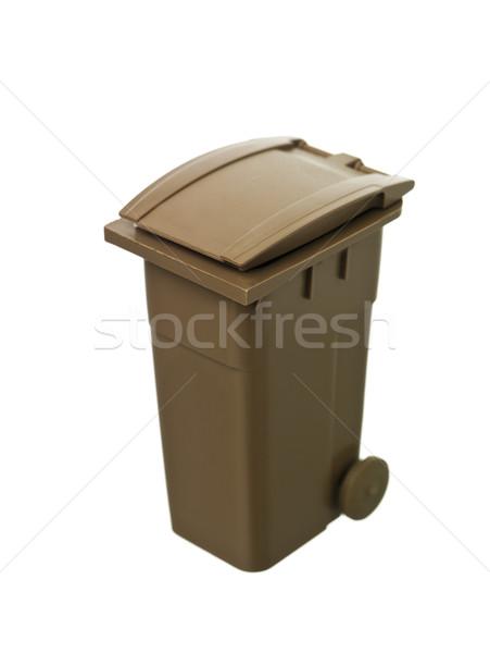 Stock photo: Brown Recycling Bin