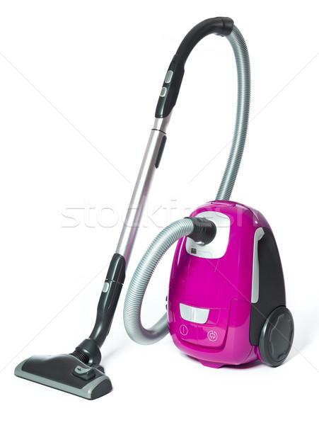 пылесос розовый изолированный белый отражение чистого Сток-фото © gemenacom