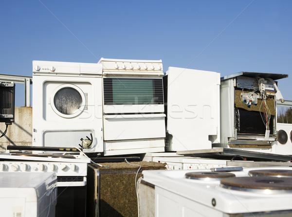 Keuken apparaat vuilnis blauwe hemel natuur metaal Stockfoto © gemenacom
