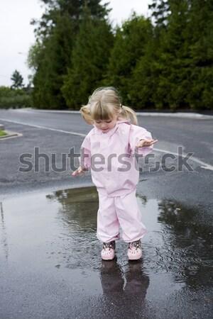 Baby Girl outdoor Stock photo © gemenacom