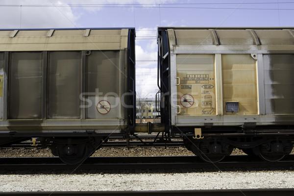 列車 古い ホイール はしご ストックフォト © gemenacom