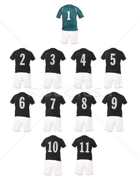 Black Football team shirts Stock photo © gemenacom