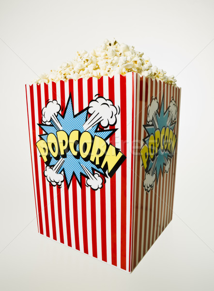 Basket of Popcorn isolated  Stock photo © gemenacom