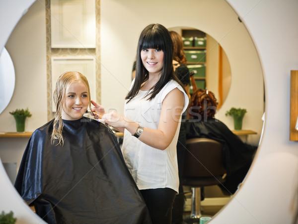 Stock photo: Hair Salon situation
