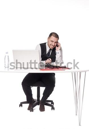 Man behind a desk Stock photo © gemenacom