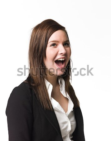 Girl with her mouth open Stock photo © gemenacom
