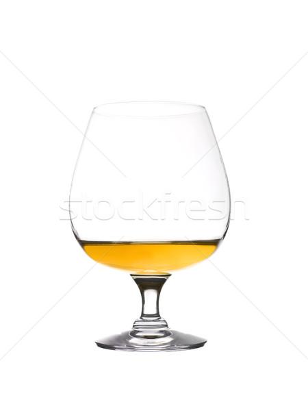Verre cognac isolé blanche alcool pub Photo stock © gemenacom