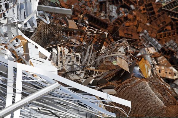Rusty scrap metal in a junkyard Stock photo © gemenacom