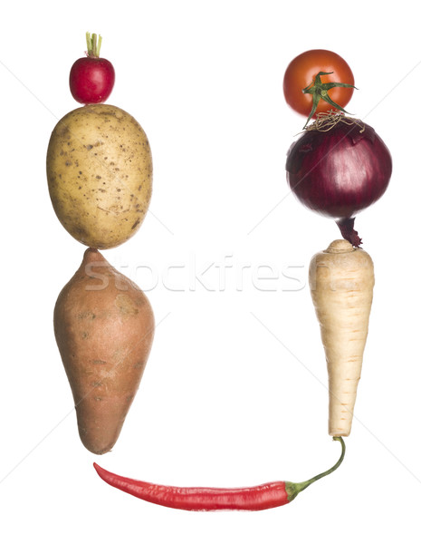 The letter 'U' made out of vegetables Stock photo © gemenacom