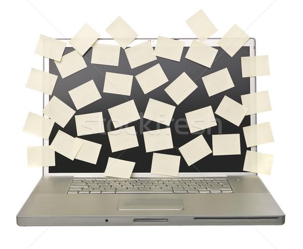Dizüstü bilgisayar boş gri yalıtılmış beyaz iş Stok fotoğraf © gemenacom