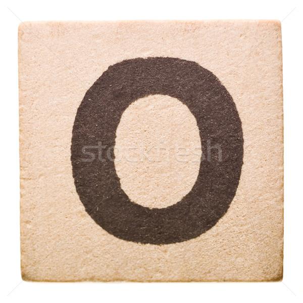 O betű izolált fehér játék tanul szöveg Stock fotó © gemenacom