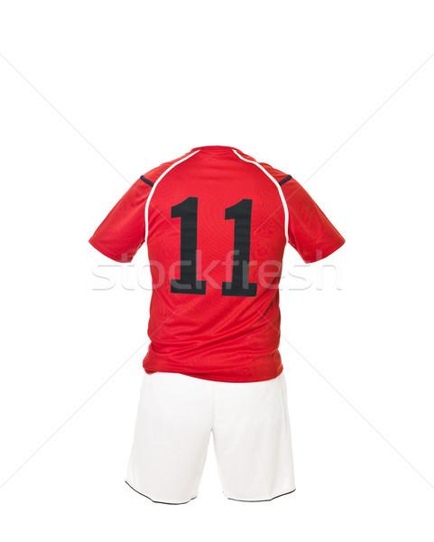 Futball póló szám izolált fehér sportok Stock fotó © gemenacom