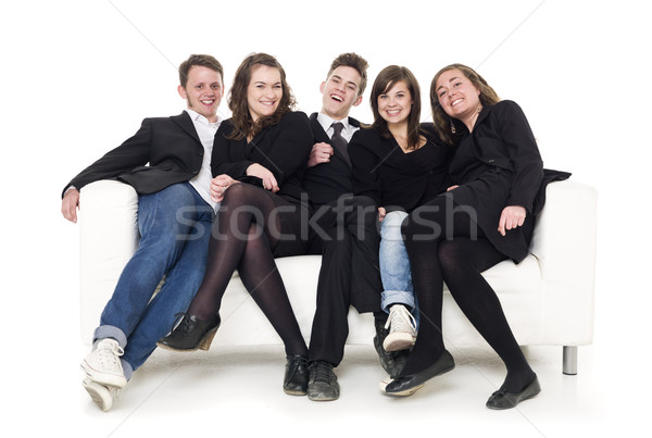 Group of people in a sofa Stock photo © gemenacom