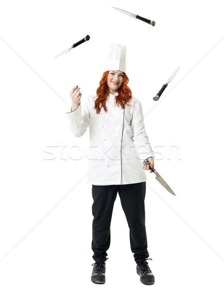 Giocoleria chef isolato bianco bellezza energia Foto d'archivio © gemenacom