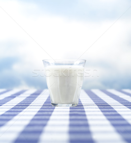 Vidrio leche cielo azul cielo beber nube Foto stock © gemenacom